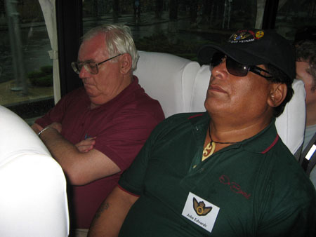 Snoring on the bus